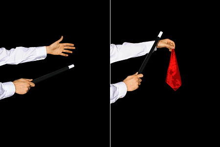 tour de magie avec un foulard