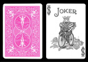 tour de magie : Carte Bicycle Joker à dos Rose