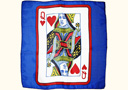 tour de magie : Card silk - Queen of Hearts - 30 cm