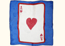 tour de magie : Card silk - Ace of Hearts - 30 cm