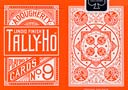 tour de magie : Reverse Orange Fan TALLY-HO Deck