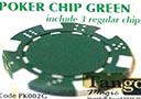 TUC poker chip Green, include 3 regular chips