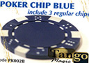 TUC poker chip Blue, include 3 regular chips