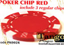 tour de magie : TUC poker chip Red, include 3 regular chips