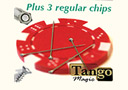 tour de magie : Magnetic poker chip Red, include 3 more regular c