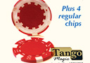 tour de magie : Expanded shell poker chip Red, one expanded shel