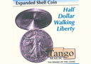 article de magie Coquille ½ Dollar walking liberty
