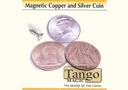 article de magie Copper and Silver ½ Dollar Magnétique