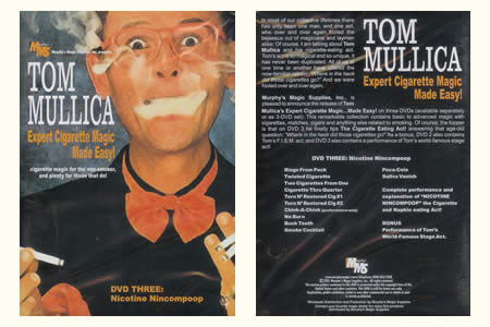 DVD Expert Cigarette Magic Made Easy ! (Vol.3) - tom mullica