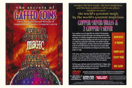 DVD The Secrets of Gaffed coins
