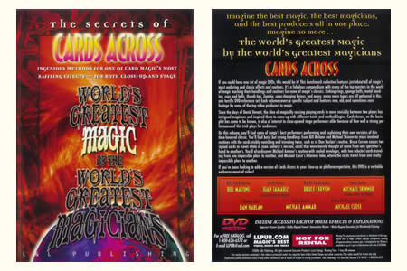 DVD The Secrets of Cards across