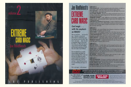 DVD Extreme Card Magic vol.2 (J. Rindfleisch) - joe rindfleish