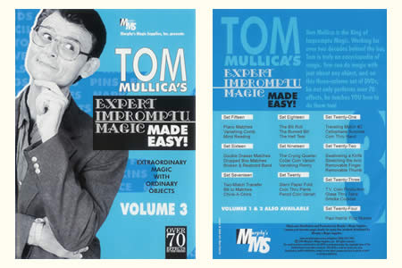 DVD Expert Impromptu Magic Made Easy (Vol.3) - tom mullica