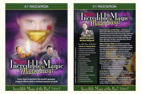 DVD Incredible magic at the bar vol.2 (M. Maxwell) - mike maxwell