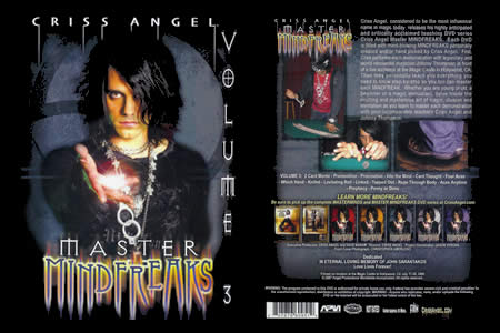 DVD Master Mindfreaks vol.3 (C. Angel) - criss angel