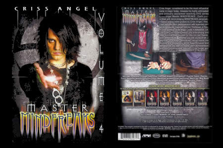 DVD Master Mindfreaks vol.4 (C. Angel) - criss angel