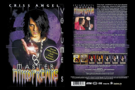 DVD Master Mindfreaks vol.5 (C. Angel) - criss angel