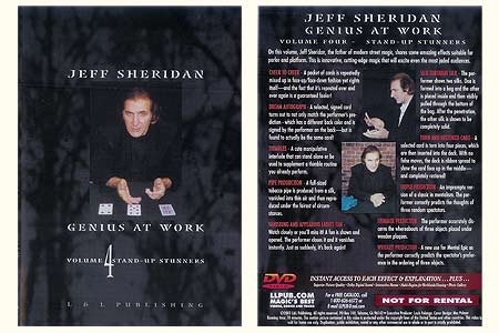 DVD Genius at Work (Vol.4) Stand-up Stunners - jeff sheridan