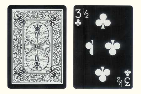 3 & 1/2 of Clubs Tiger BICYCLE Card