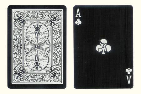 Shattered Ace of Clubs BICYCLE Tiger Card