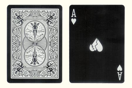 Shattered Ace of Hearts BICYCLE Tiger Card