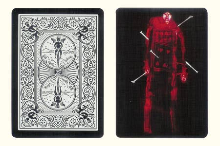 4 of Hearts Robot BICYCLE Card Tiger