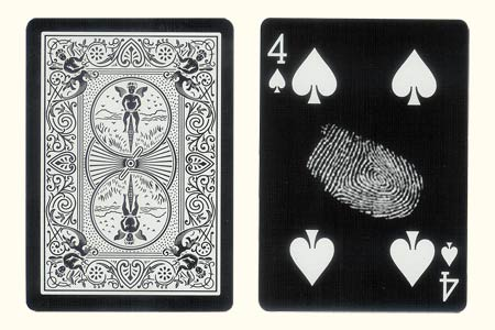 4 of Spades With fingerprint BICYCLE Tiger Card