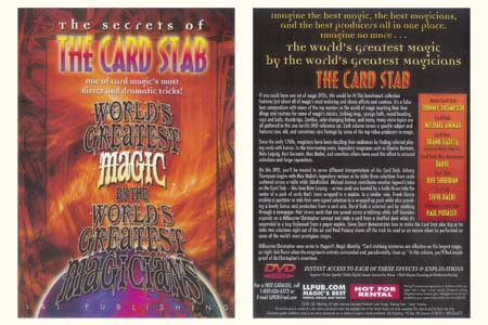 DVD The Secrets of  The Card Stab