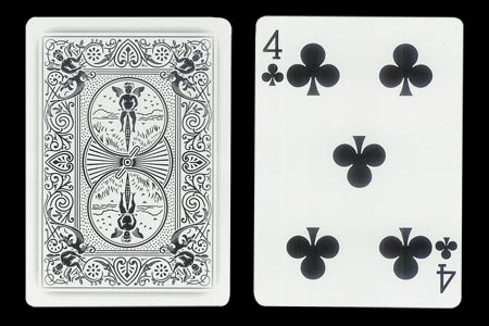 4 of Spades with 1 extra Spade BICYCLE Ghost Card