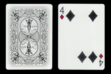 4 of Spades with 2 spots together BICYCLE Ghost