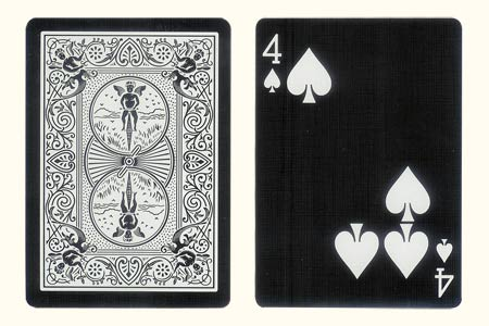 4 of Spades with 3 spots together BICYCLE Tiger Ca
