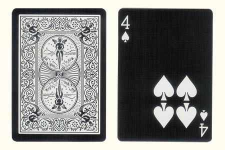4 of Spades with 4 spots together BICYCLE Tiger Ca
