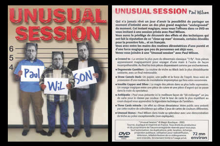 DVD Unusual Session