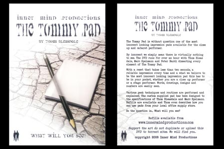 The Tommy Pad (DVD + Gimmick)
