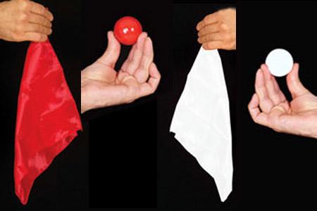 JL Magic Change instantan/é de Foulard en Balle Rouge