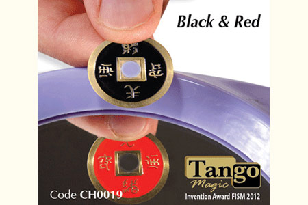 Chinese Coin Black and Red