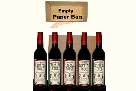 Appearing 5 wine bottles from empty Paper Bag - tora-magic