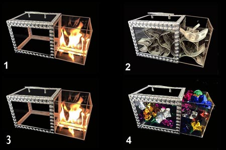 Crystal Fire drawer box (3 charges)