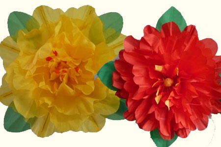 Peony Production (Red or yellow)-80cm