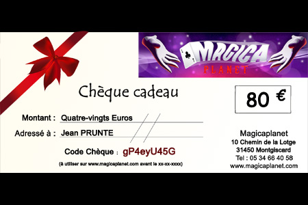 Cheque REGALO 80 €