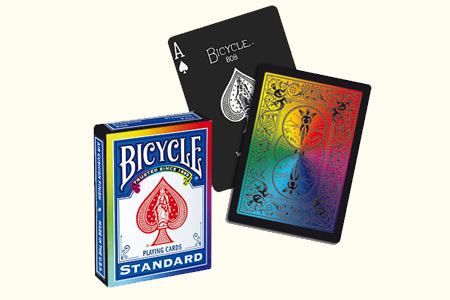 Jeu Bicycle Black Arc-en-ciel