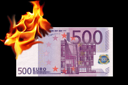 Flash 500 € bills (10 units)