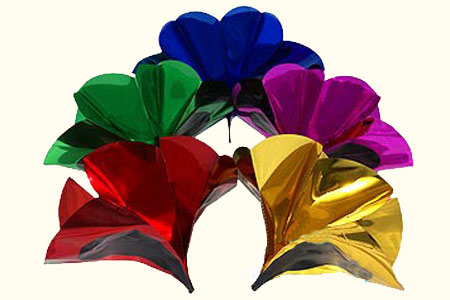 Metallic Spring Flowers - large (6 flower set)