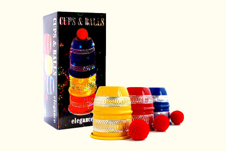 Colored Aluminium cups (with 4 balls)
