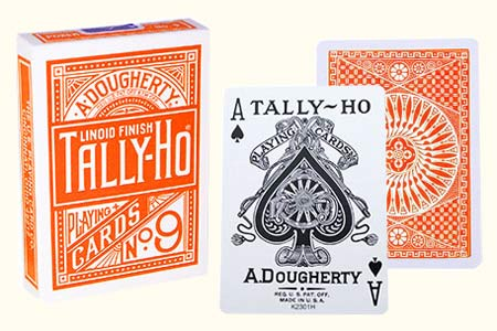 Orange Circle Back TALLY-HO Deck