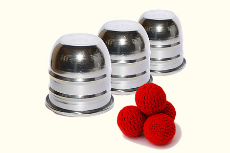 Aluminium cups mini (with 4 balls)