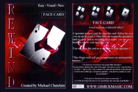Rewind Face card (DVD + Gimmick)