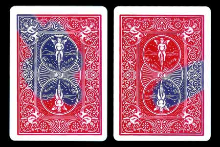Carte Bicycle Double tarot avec tâche