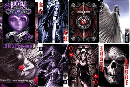 Baraja BICYCLE Anne Stokes Dark Hearts