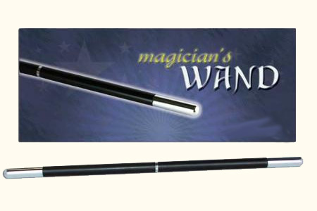 Magician's Pro Wand (Black w/Chrome Tips)